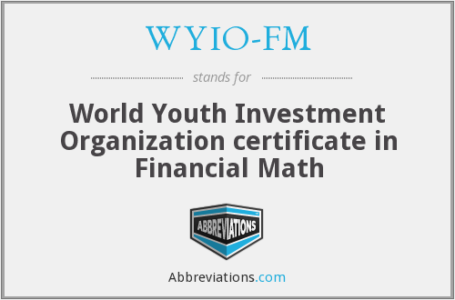 What does WYIO-FM stand for?