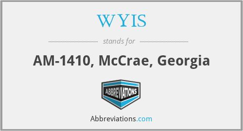 WYIS - AM-1410, McCrae, Georgia