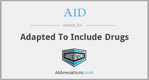 AID - Adapted To Include Drugs