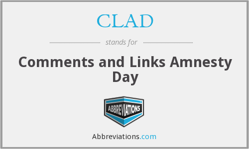 CLAD - Comments and Links Amnesty Day