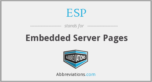 ESP - Embedded Server Pages