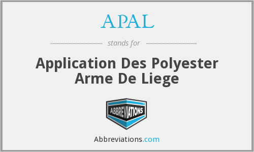 APAL - Application Des Polyester Arme De Liege