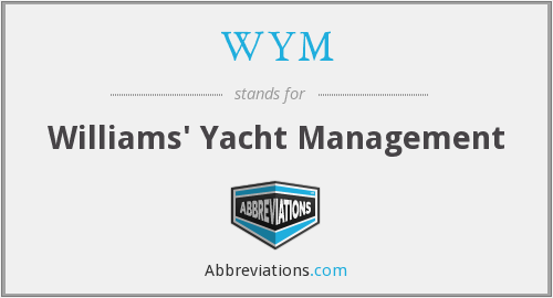 WYM - Williams' Yacht Management