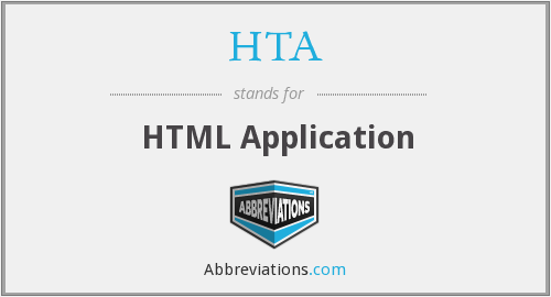 HTA - HTML Application