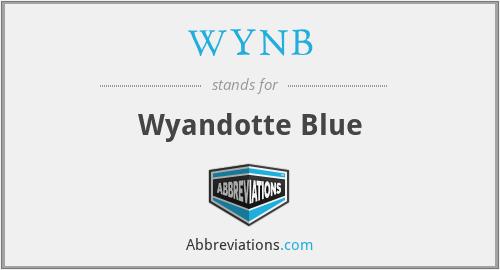 WYNB - Wyandotte Blue