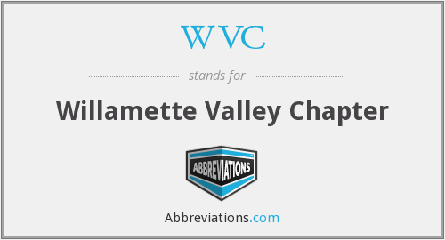 WVC - Willamette Valley Chapter