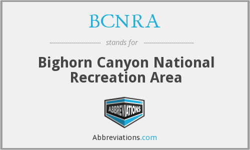 BCNRA - Bighorn Canyon National Recreation Area