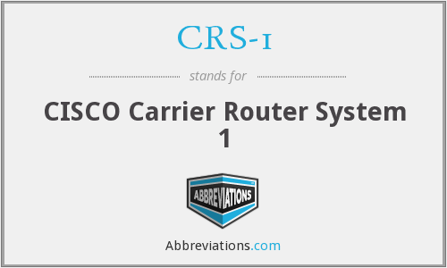 What does CRS-1 stand for?