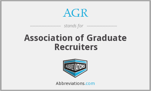 AGR - Association of Graduate Recruiters