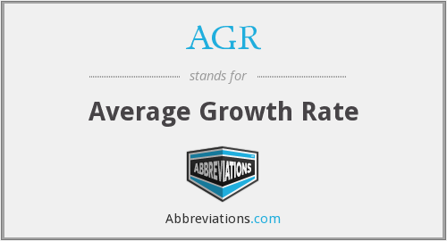 AGR - Average Growth Rate