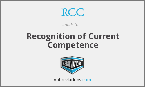 RCC - Recognition of Current Competence