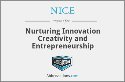 NICE - Nurturing Innovation Creativity and Entrepreneurship