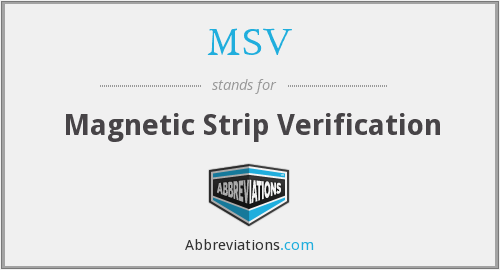 MSV - Magnetic Strip Verification