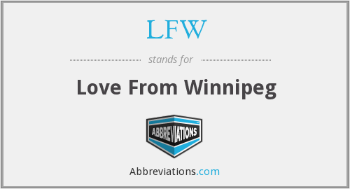 LFW - Love From Winnipeg