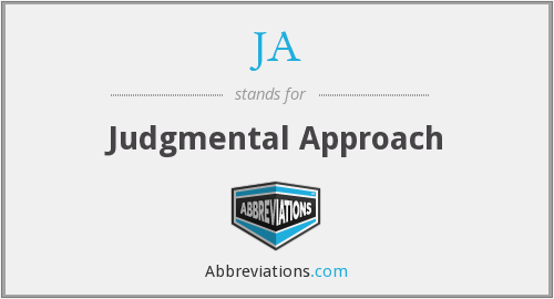 JA - Judgmental Approach