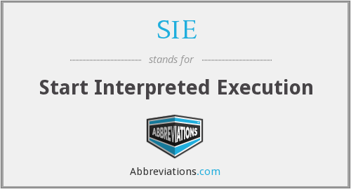 SIE - Start Interpreted Execution