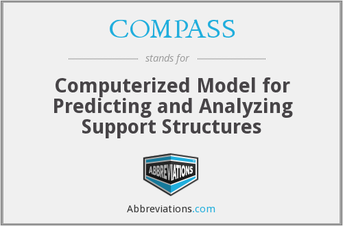 COMPASS - Computerized Model for Predicting and Analyzing Support Structures