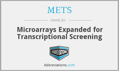 METS - Microarrays Expanded for Transcriptional Screening