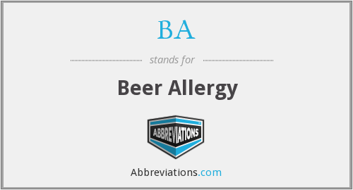 BA - Beer Allergy