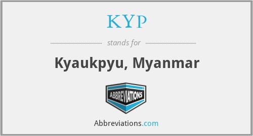 KYP - Kyaukpyu, Myanmar