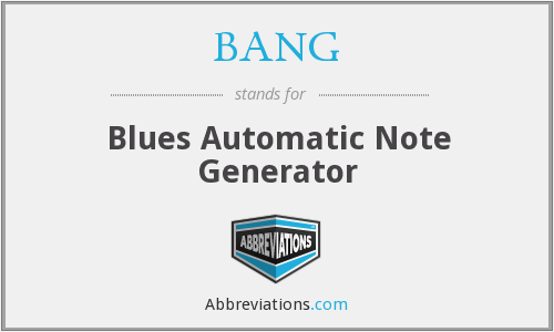BANG - Blues Automatic Note Generator