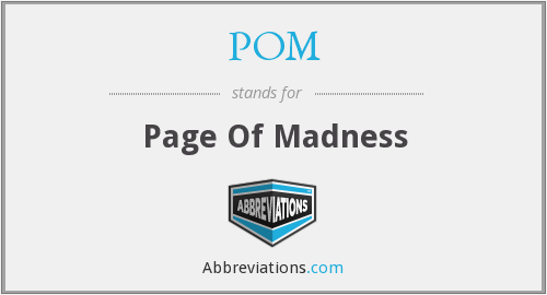 POM - Page Of Madness
