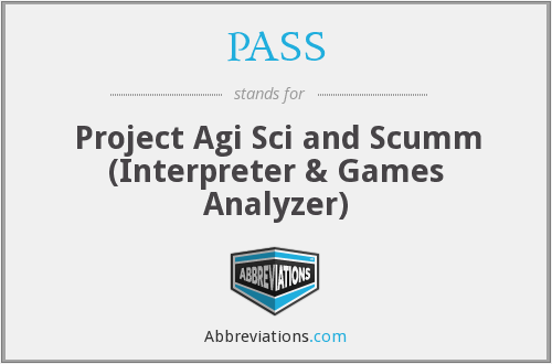 PASS - Project Agi Sci and Scumm (Interpreter & Games Analyzer)