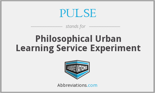 PULSE - Philosophical Urban Learning Service Experiment