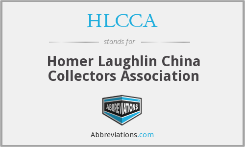 HLCCA - Homer Laughlin China Collectors Association
