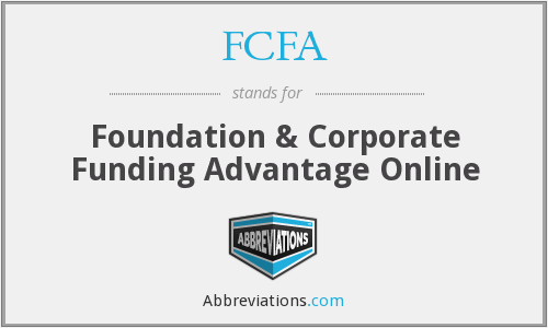 FCFA - Foundation & Corporate Funding Advantage Online