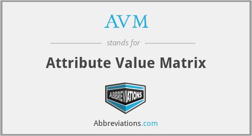 AVM - Attribute Value Matrix