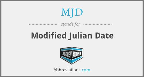 MJD - Modified Julian Date