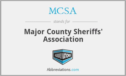 MCSA - Major County Sheriffs' Association