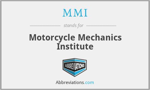 MMI - Motorcycle Mechanics Institute