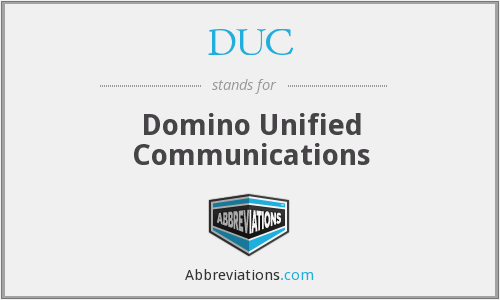 DUC - Domino Unified Communications