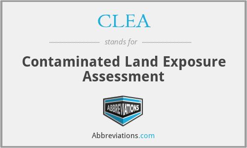 CLEA - Contaminated Land Exposure Assessment