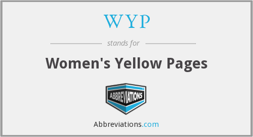 WYP - Women's Yellow Pages