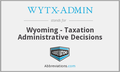 What does WYTX-ADMIN stand for?