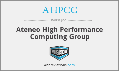 What does AHPCG stand for?