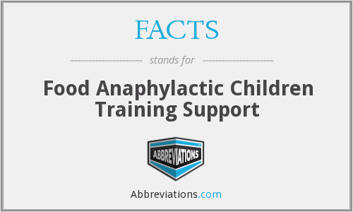 FACTS - Food Anaphylactic Children Training Support