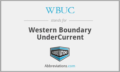 WBUC - Western Boundary UnderCurrent