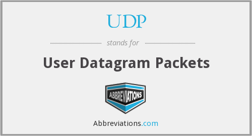 UDP - User Datagram Packets