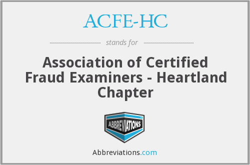 ACFE-HC - Association of Certified Fraud Examiners - Heartland Chapter