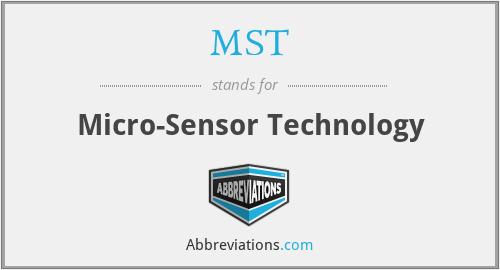 MST - Micro-Sensor Technology