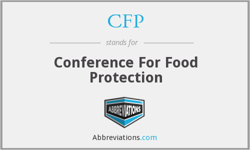 CFP - Conference For Food Protection