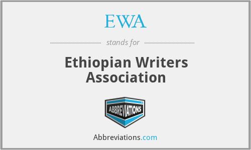 EWA - Ethiopian Writers Association