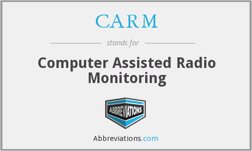 CARM - Computer Assisted Radio Monitoring