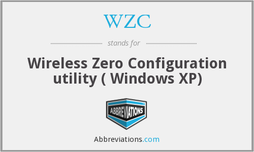 WZC - Wireless Zero Configuration utility ( Windows XP)