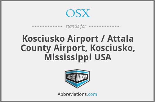 OSX - Kosciusko Airport / Attala County Airport, Kosciusko, Mississippi USA