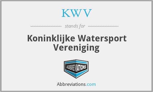 KWV - Koninklijke Watersport Vereniging